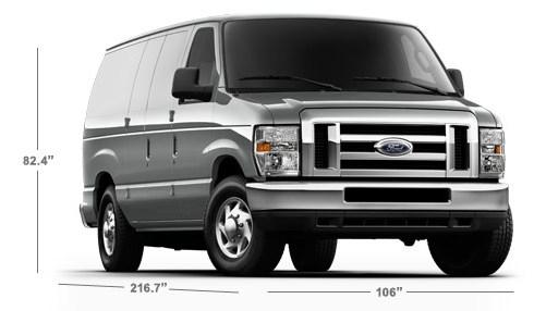 Ford Cargo Van Exterior Dimensions