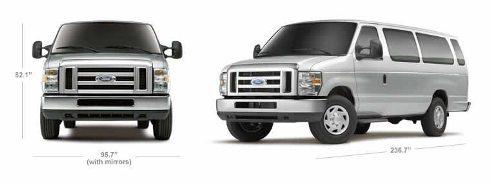 Ford Econoline Dimensions Cargo Van E150 Wagon Interior Exterior